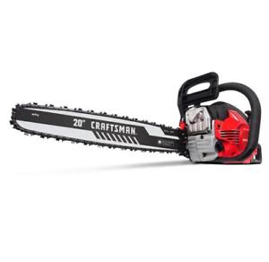 """*NEW* Craftsman S205 2-Cycle 46cc Chainsaw w/ 20"""" Bar -CMXGSAMY462S"""
