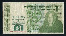 Old Irish Banknote 1 Pound Pound Punt Series B Serial No. AAI 777772 15.11.84