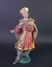 Antiguedad madera personaje farmacéutico-estilo barroco 19. siglo