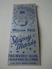Matchbook Cvr Slapsy Maxie Rosen Bloom Ph 9513 Los Angeles Ca #86
