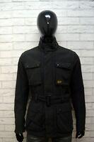 G-STAR Uomo Taglia L ( M ) Giacca Nero Cotone Giubbino Jacket Man Giubbotto