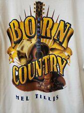 Mel Tillis Concert Tour T - shirt Born Country Large Size Free Shipping