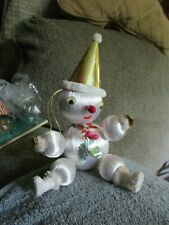 Vintage 1960's Snowman Christmas Holiday Decorations Japan