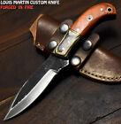 Louis Martin Rare Handmade D2 Steel Hard Wood Hammered Art Hunting Skinner Knife