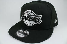 c2066cdb152b7 NEW ERA 9FIFTY BASIC SNAPBACK HAT CAP NBA LOS ANGELES LA LAKERS BLACK ADULT  MEN