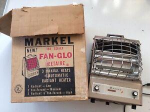 Markel 198TN Electric Portable Space Heater FAN-GLO Made in USA 1650 Watts