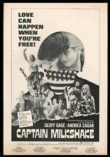 1972 Captain Milkshake movie release vintage trade ad