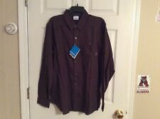 Men's Columbia Button Front Shirt...M...Red/Blue Check....NWT