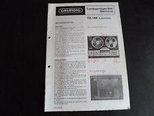 Original Service Manual Grundig  TK 147 Hifi de Luxe