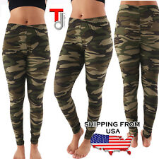 NEW Women's Army Commando Military Print Camouflage Jeggings Leggings ONE SIZE