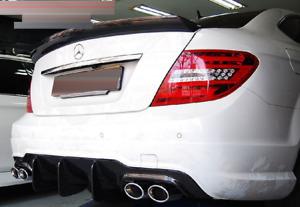 Mercedes Benz W204 C204 C63 Coupe FRP Heckspoiler Lippe Kofferraum V-Style Big
