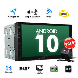"""DSP 2Din 7"""" Android 10 Car Stereo Head Unit Navigator Quad Core Double Din Radio"""