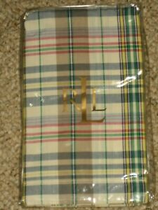 New Lauren Ralph Lauren Euro pillow sham boathouse madras square 26x26 plaid