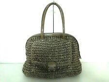 Auth ANTEPRIMA Wire Bag DarkGray Wire Patent Leather Handbag