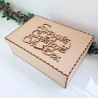 Wooden Disney Personalised Christmas Eve Box And Topper mdf Xmas Memory Box F2