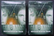 (2) Sealed X FILES CCG 60 Card Starter Decks NM