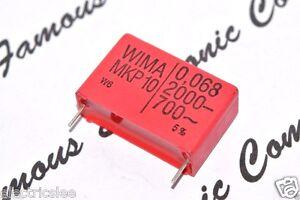 2pcs - WIMA MKP10 0.068uF (0.068µF 68nF) 2000V 5% pitch:27.5mm Capacitor