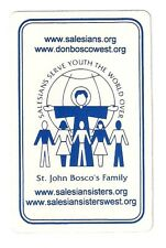 bridge deck playing cards advertising Saleian Sisters, serve youth world over
