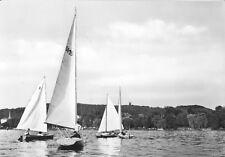 AK, Woltersdorf b. Erkner, Segelboote auf dem Flakensee, 1964