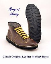 Genuine Original Mens / Boys / Ladies Red Leather Mod Monkey Boots Sizes 3 - 12