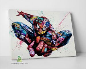 Spiderman Marvel Graffiti Canvas Art Wall Art Print Picture Banksy Canvas -C996
