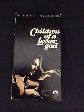 Children of A Lesser God (1986) VHS William Hurt Marlee Matlin nudity deaf girl