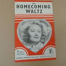 songsheet HOMECOMING WALTZ Ivy Benson 1943