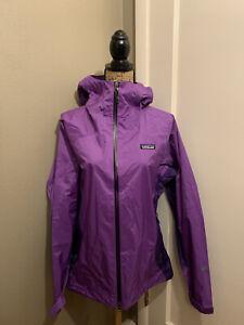 PATAGONIA Women's Purple H2NO Rain Shadow Jacket Size L Large