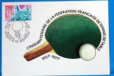 TENNIS DE TABLE PING PONG  FRANCE CPA   Carte Postale Maximum  Yt  1961 C