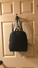 New $298 Michael Kors Cindy Saffiano Leather Black Backpack Handbag MK Bag