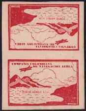 Colombia 1920 Unicolor 10c carmine TETE-BECHE pair