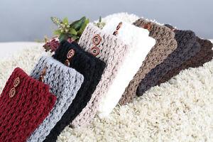 Button Hollowed Boots Toppers Knit Socks Crochet Leggings Women Leg Warmer Gifts
