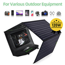 120 Watts Foldable Solar Panel 20A Charge Controller DC Output Portable Charger