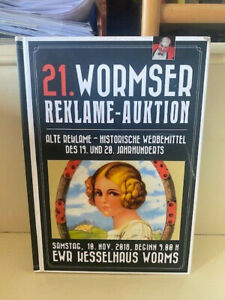 Auktionskatalog Worms - 21. Auktion alte Reklameschilder Emailschilder 2018