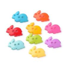 100 2-Hole Acrylic Buttons, Rabbit, Mixed Color, 17.5mm Crafts Sewing