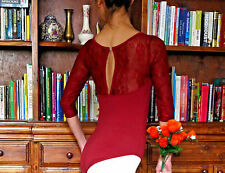Pretty lady or girl ballet dance 3/4 long sleeve leotard with lace inserts - New