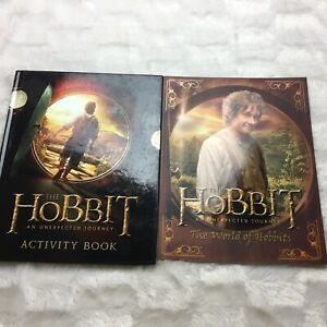 The World of Hobbits An Unexpected Journey + Activity Book Lot