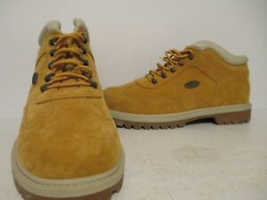 Lugz Mens Woods Mid Durabrush Casual Ankle Work Boot Wheat/ Cream/ ST.Gum Size 9