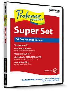 Professor Teaches Super Set (26 course Tutorial set) PC NEW!