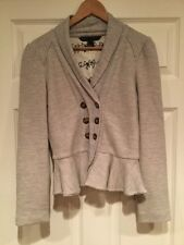 Marc By Marc Jacobs Gray Wool Double Breasted Cardigan Sweater, Size Medium