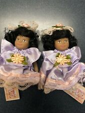 Cameo Kids Dolls 2.5 Inch African Amereican Porcelain Posable Set/2 New! (14)
