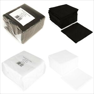 White Black Disposable Hairdressing Towels Hair Beauty Spa Salon 80 x 40 50 Pack