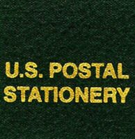 Scott LABEL For US Postal Stationery Green Album Stamp Binder Gold Lettering NEW