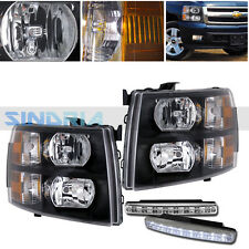 08-13 CHEVY SILVERADO 1500 DIRECT  REPLACEMENT HEADLIGHT LAMPS +DRL FOG LIGHTS