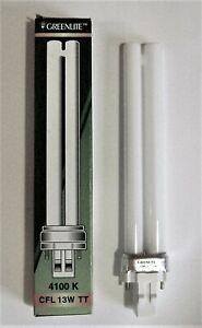 13W/TT/2P/41K 13W 2 Pin 4100K Light Bulb GX23 Cool White Twin Tube CFL Bulb