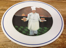 Williams Sonoma Chef Christian Series Guy Buffet 1 Dinner Plate White Hair Older