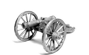 Tin miniature A 6-pound cannon foot and horse artillery. Russia 19 century