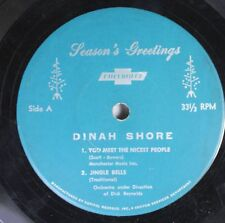 Christmas 45 Dinah Stone - You Meet The Nicest People / Silent Night On Chevolet