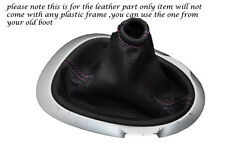 PINK STITCHING FITS NISSAN JUKE 2010-2013+ LEATHER GEAR GAITER ONLY