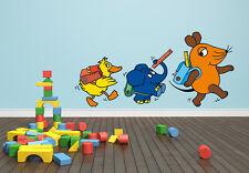 DIE MAUS - SCHULWEG, TOLLES WANDTATTOO, Wandsticker, Größe 60 x 30 cm TV Kinder